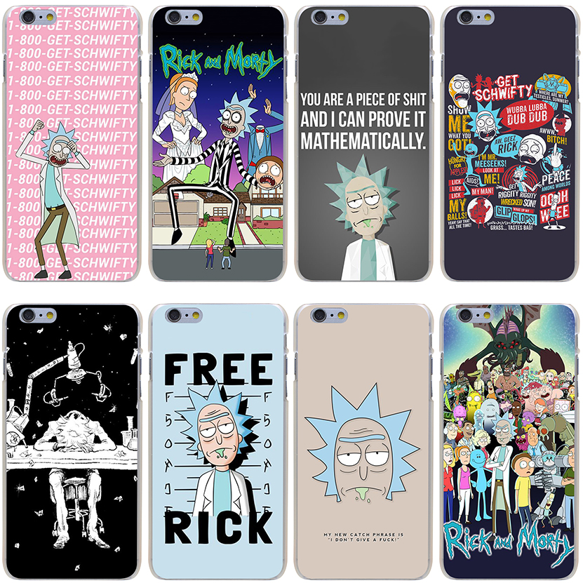 rick and morty Hard Transparent Cover Case for font b iPhone b font X 10 8