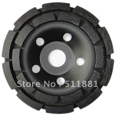 ФОТО 7'' NCCTEC diamond grinding CUP wheel | 180mm Concrete granite marble grinding disc | double row disk
