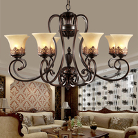 Luxury Classical European Chandelier Lamp Living Room Bedroom Chandelier Lighting High Quality Metal Paint Light