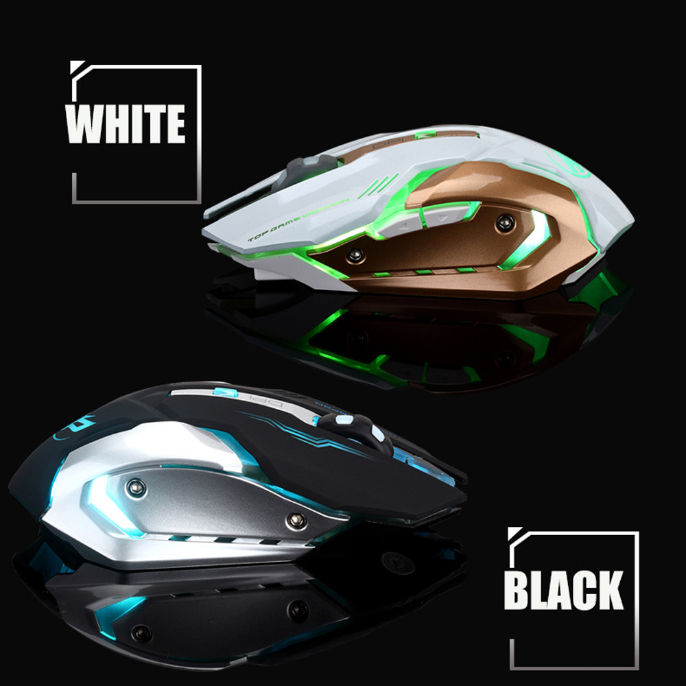 Rechargeable T1 Wireless Silent LED Backlit USB Optical Ergonomic Gaming Mouse #M