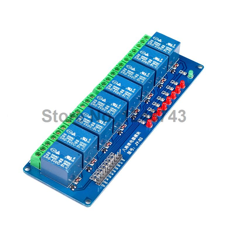 5V 8 Channel Relay Module Low Level Trigger with Lamp 8Channel 5V Green Terminal Relay Module Board