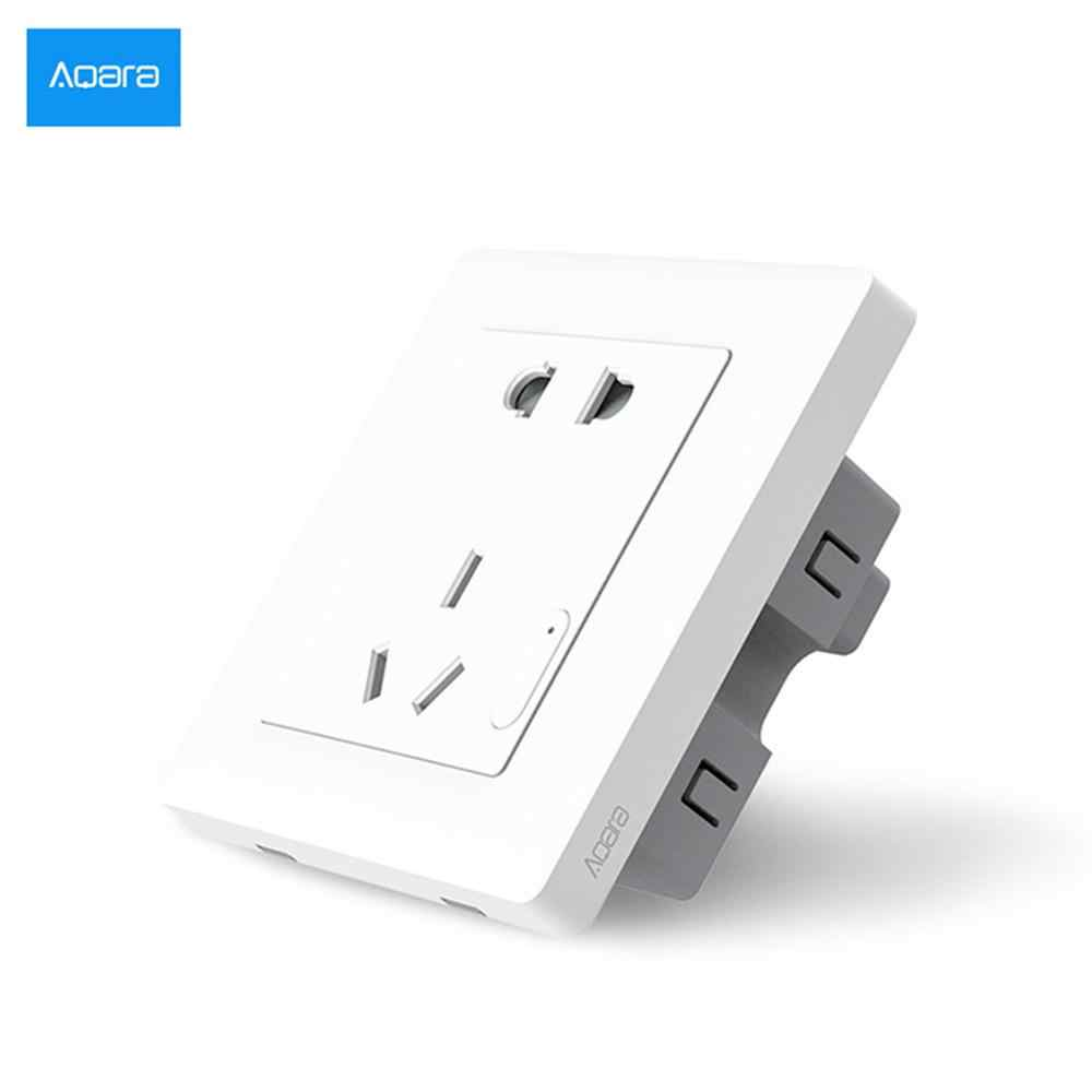 [HOT] Xiaomi Smart home Aqara Smart Light Control ZiGBee interruptor de pared enchufe a través de la aplicación de teléfono inteligente Control remoto inalámbrico 10A/2500W