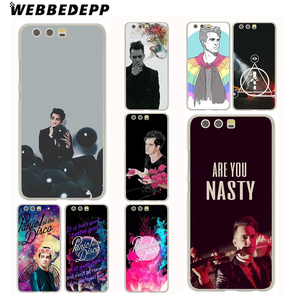 WEBBEDEPP Panic At The Disco Case for Huawei P20 P10 P9 P8 P7 G7 P6 P smart Lite Plus Pro & Nova 2 Plus 2s 2i 2 Lite