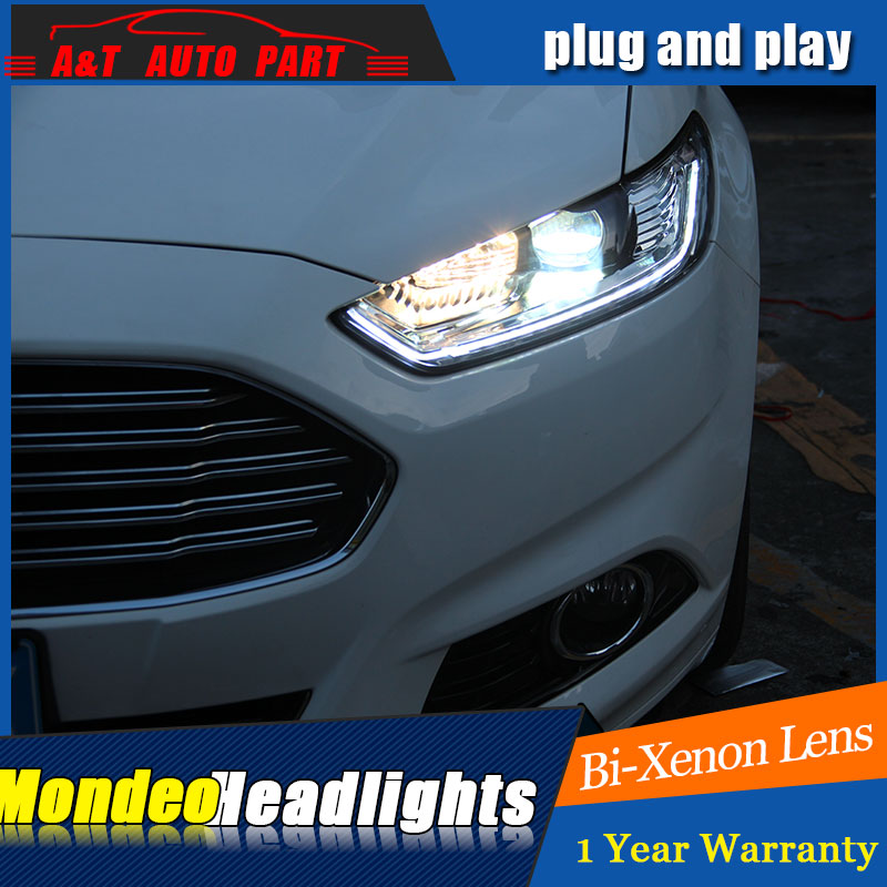 car Styling LED Head Lamp for Ford Mondeo Fusion led headlights 2012-2016 signal led drl H7 hid Bi-Xenon Lens low beam auto clud style led head lamp for nissan teana 2013 2016 led headlights signal led drl hid bi xenon lens low beam