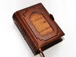Cuaderno de cuero para cuaderno de notas LIBRO DE vitago cuaderno de papel envejecido libro de hechizos Puerta de cuero