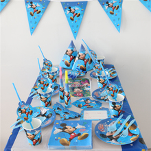 10person luxury mickey mouse theme birthday party supplies 91pcs child party set decoration tableware set