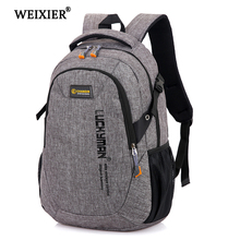 WEIXIER Mens 2019 New  Backpack Bag Male Polyester Laptop Computer Bags High School Student College Students