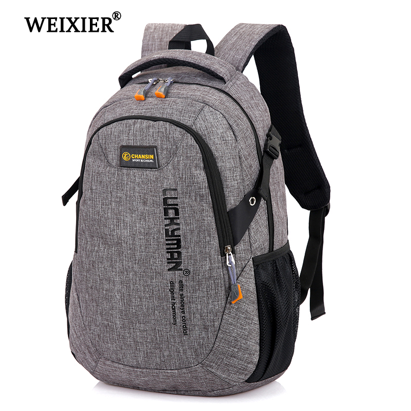 WEIXIER Men's 2020 New  Backpack Bag Male Polyester Laptop Backpack Computer Bags High School Student College Students Bag Male