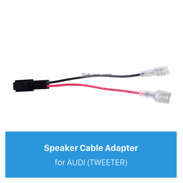 Seicane Car Stereo Wiring Harness Speaker Cable Plug Adapter for AUDI TWEETER_640x640 seicane car stereo wiring harness speaker cable plug adapter for A Tiny Speaker Wiring at bakdesigns.co