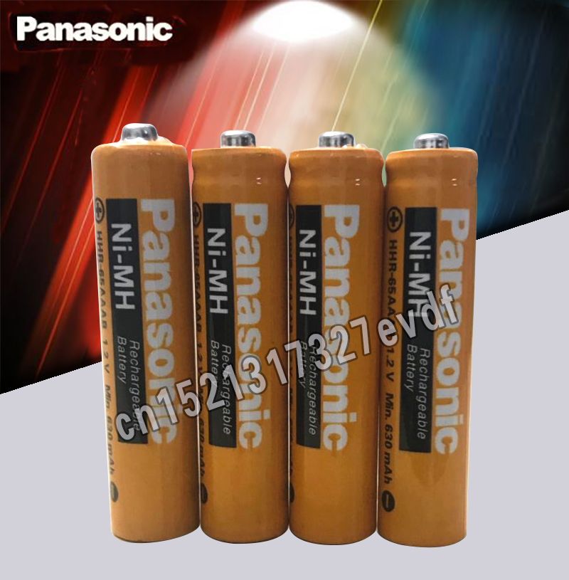 Original Panasonic AAA 1.2V 630mAh Rechargeable NiHM Battery Charging Times Or 1200 Times