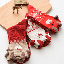 цена New Women Sock Winter Warm Christmas Gifts Stereo Socks Soft Cotton Cute Santa Claus Deer Socks Xmas Christmas Drop Shipping