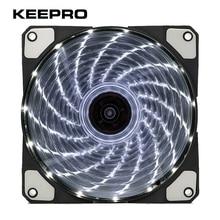 KEEPRO Original 15 Lights LED Cooling Silent Fan PC Computer Chassis Fan Case Heatsink Cooler DC 12V 4P 3P 120mm
