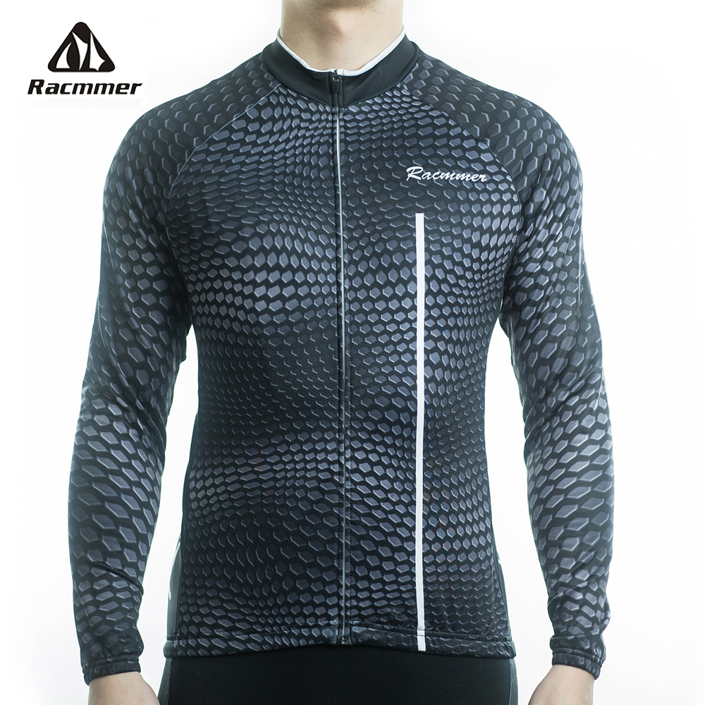 Racmmer 2019 Mens Long Sleeve Cycling Jersey Mtb Cycling Clothing Bicycle Maillot Ropa Ciclismo Breathable Bike Clothes #CX-35