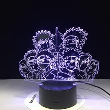 Naruto 3D LED light 7 Color Changing Home Decor Table Lamp Visual Night Light