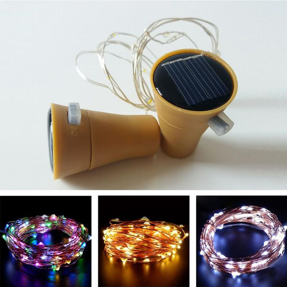 LED Solar String Light Wine Bottle Stopper Fairy Strip Lamp Christmas Party Decoration DIY Cork String Night Lamp Veilleuse