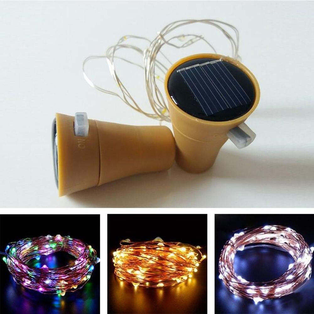 LED Solar String Light Wine Bottle Stopper Fairy Strip Lamp Christmas Party Decoration DIY Cork String Night Lamp Veilleuse