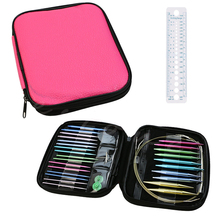 2017 New 13pcs Aluminum Change Head Detachable Circular Knitting Needle Ring Set Tool For Home Sewing Needle crafts + Free Ruler