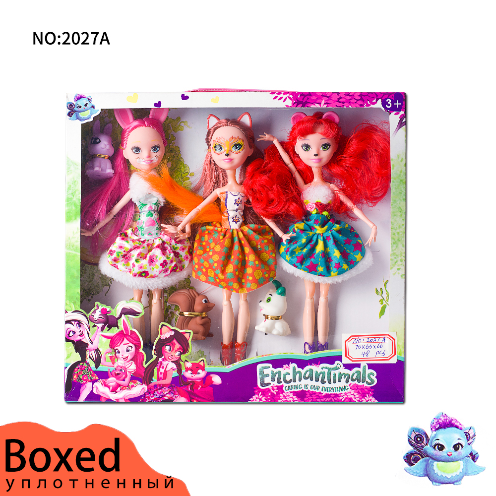 3 Pcs Joints Enchantimals Doll Toy For Girl Limited Collection Anime Model Poupee Doll For Girls Gifts 27cm