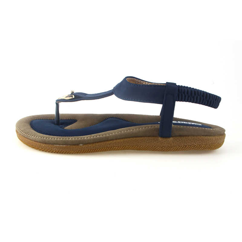 BEYARNE rozmiar 35-42 nowe sandały damskie płaski obcas sandalias femininas letnie dorywczo pojedyncze buty kobieta kapcie z miękką podeszwą sandały