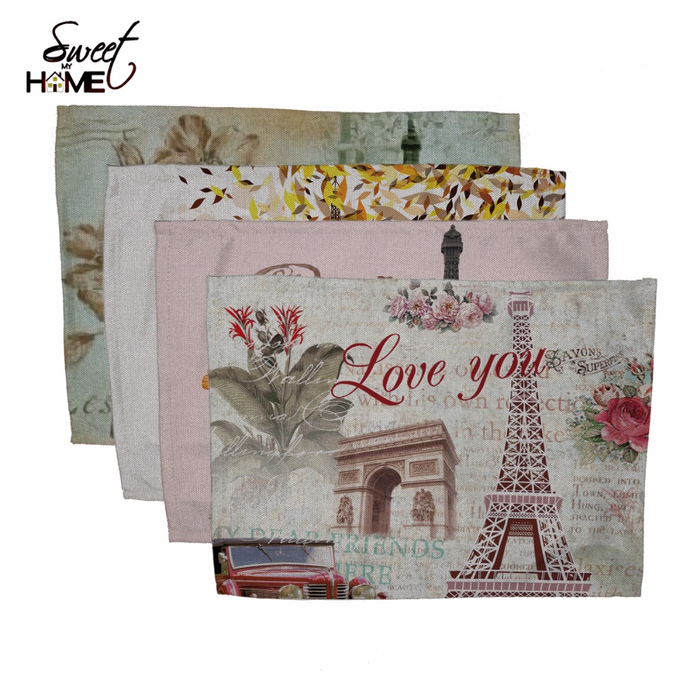 Cotton Linen Eiffel Tower Designs Printed Table Dishware Place Mats For  Dinner Kitchen Accessories Cup Wine matDinner Eiffel Tower Reviews   Online Shopping Dinner Eiffel Tower  . Dinner In The Eiffel Tower Reviews. Home Design Ideas