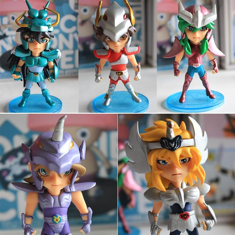 5 Pcs/Set 10cm Q Saint Seiya Shiryu Action Figure Knights