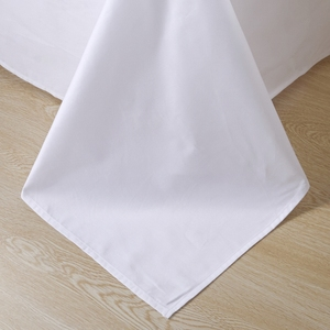 Image 2 - 80 S Mısır pamuk saten saf beyaz lüks otel yatak takımı Takımları kraliçe kral yumuşak ipek hissi çarşaf çarşaf seti nevresim