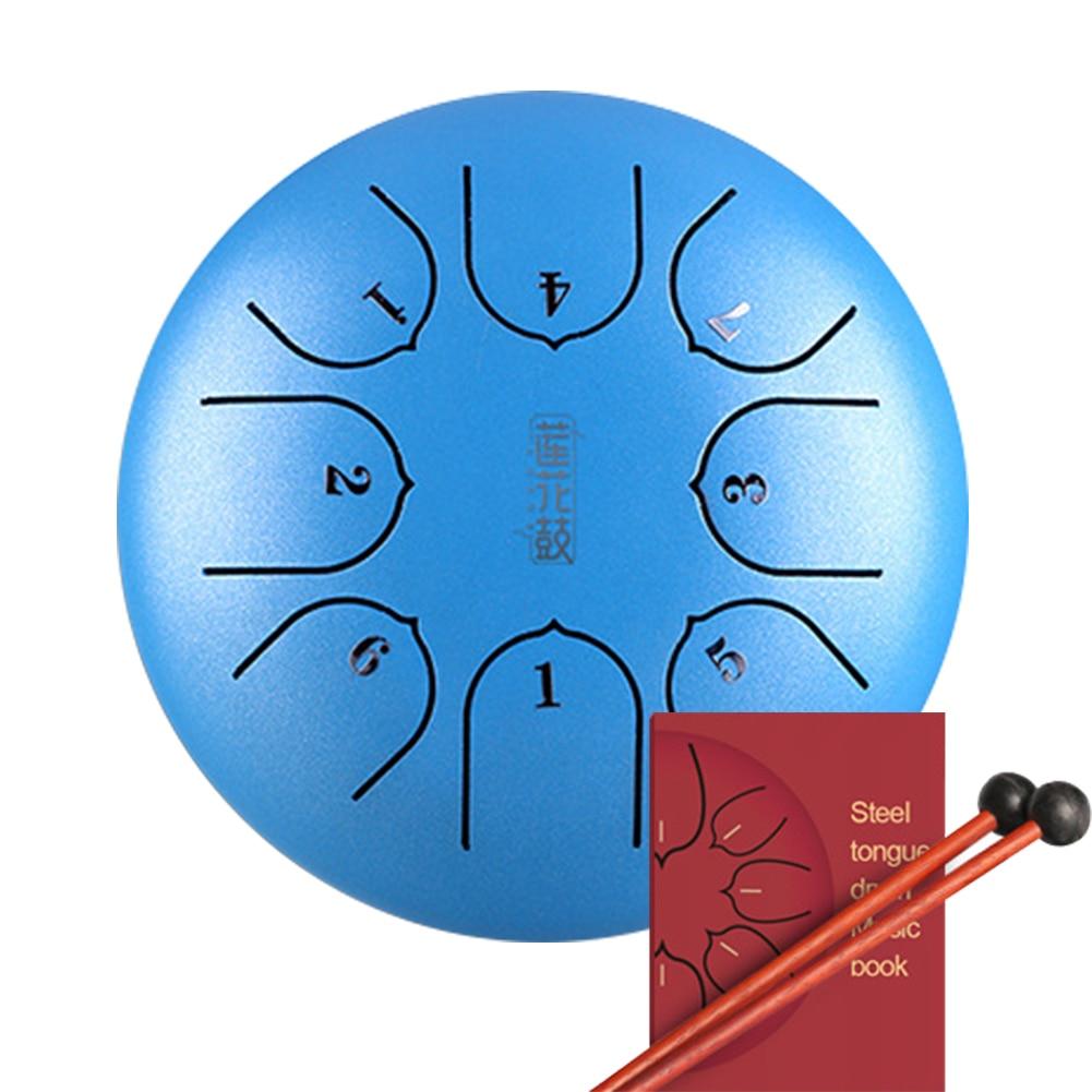 6 pouces 8 Notes Instrument porte C clé avec maillets Mini G Tune main Pan professionnel en acier langue tambour réservoir musique éducation cadeau