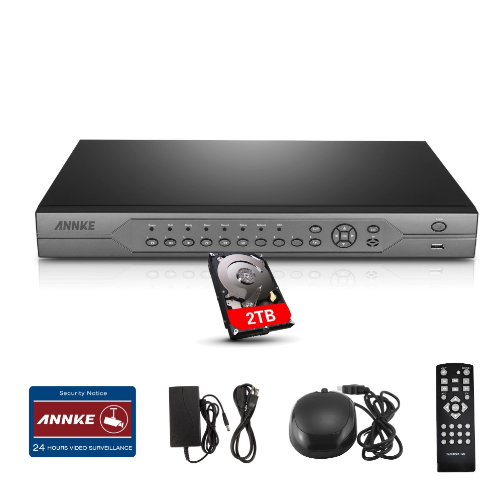 ANNKE 24CH Channel AHD H.264 DVR Video Recorder for Security Camera System 2TB