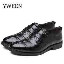 YWEEN Classic Luxury Men's Dress Shoes Lace-Up Men's Formal Shoes Plus Size Leather Shoes цена 2017