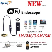 Endoscope WIFI New Camera 8mm HD Lens 1M 2M 3 5M 5M USB Iphone Android Borescope