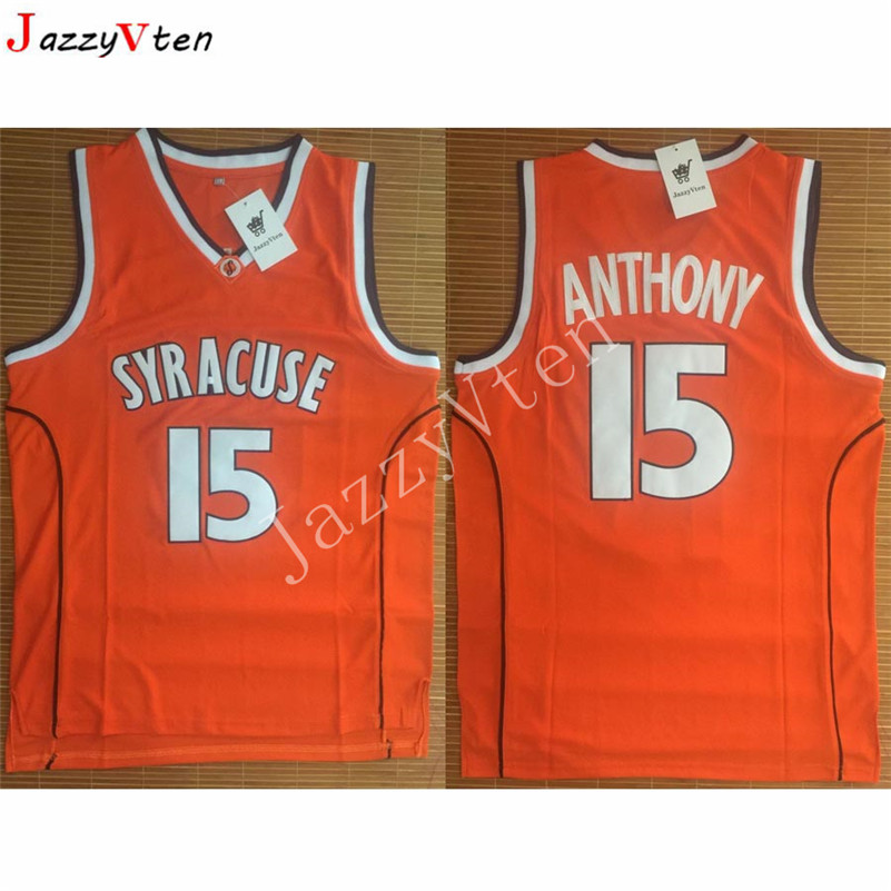 Cheap Retro Carmelo Anthony Basketball Jerseys 15  Syracuse University  Throwback Knitted Embroidery High Quality Shirts For Men-in Basketball  Jerseys from ... e574dbb29