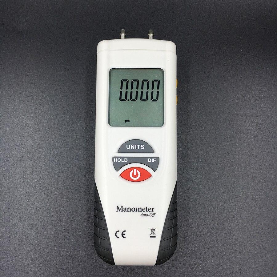 HT-1890 Digital Manômetro ar medidor de pressão Diferencial de pressão de ar Calibre Kit 55H2O a + 55H2O Data Hold medidor presion