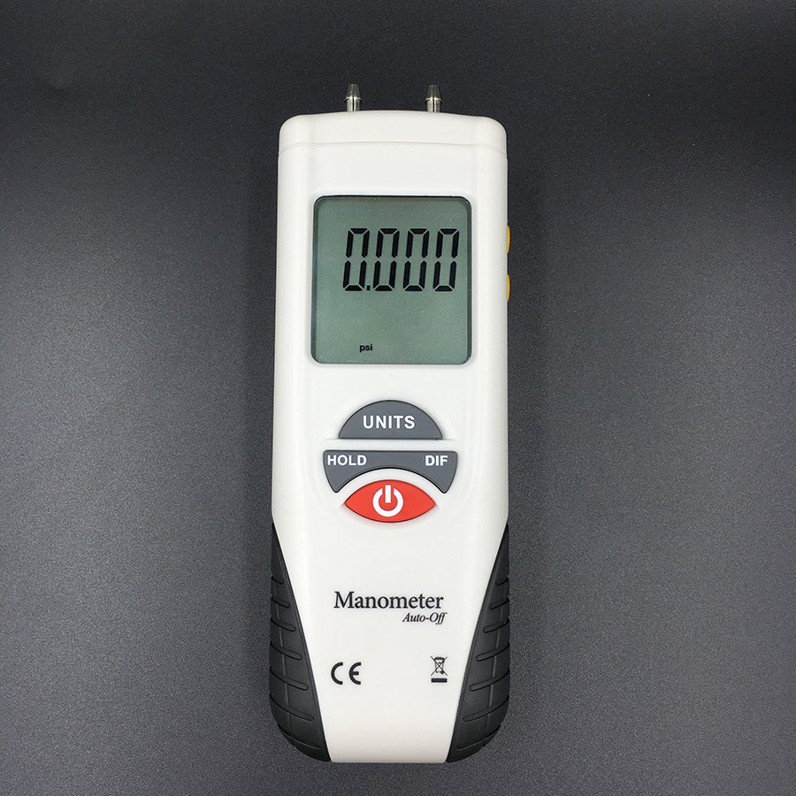 HT-1890 Digital Manometer Air Pressure Meter Air Pressure Differential Gauge Kit 55H2O To +55H2O Data Hold Medidor Presion
