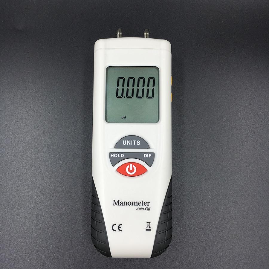 HT-1890 Manômetro Digital air Diferencial de pressão medidor de pressão de ar Calibre Kit 55H2O a + 55H2O Data Hold medidor presion