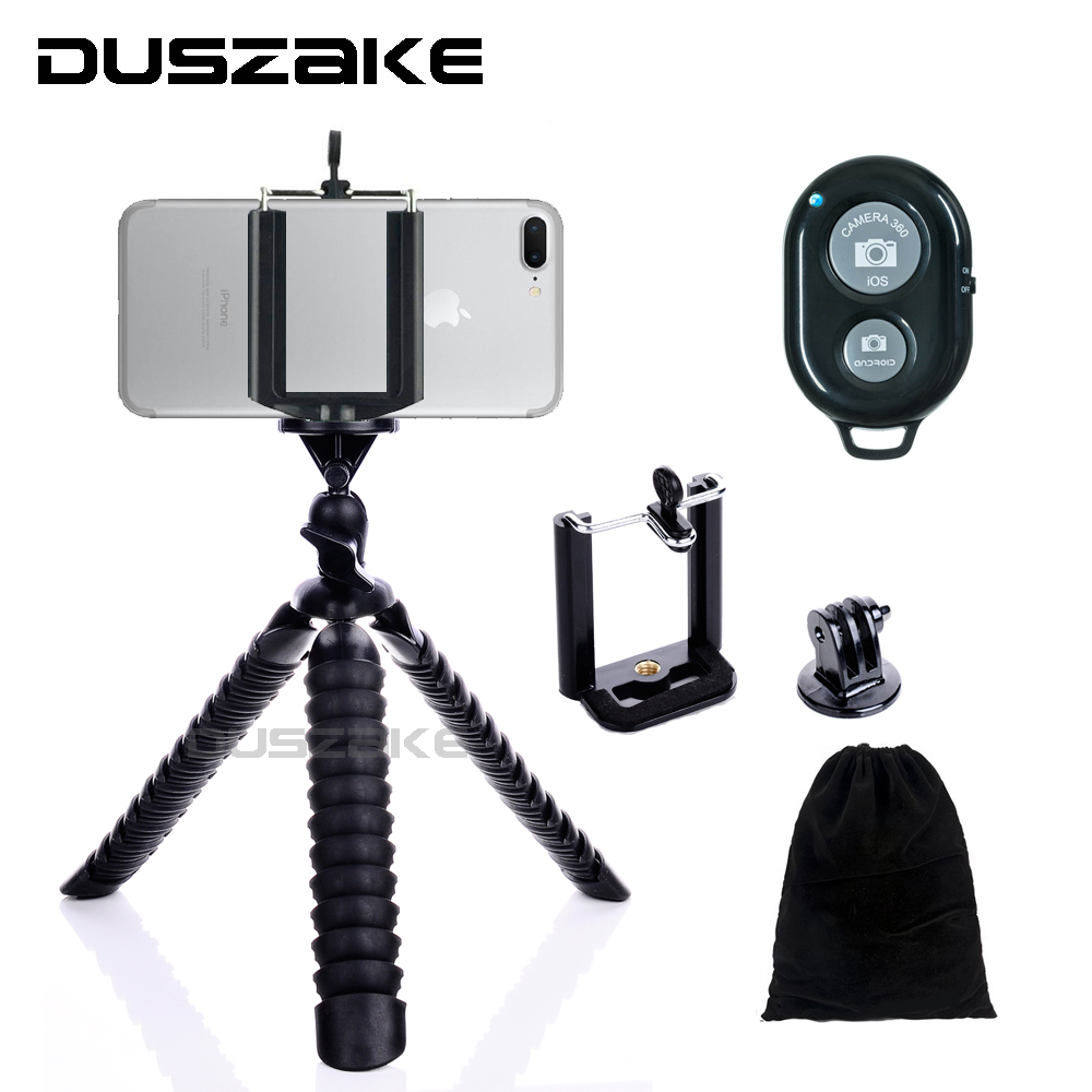 "Duszake Mini Treppiede per telefono cellulare Stand Mini Octopus Gorillapod 8 ""per iPhone 7 GoPro hero 5 Canon Sony Camera Xiaomi"