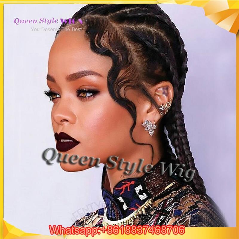 celebrity rihanna 6 braids form