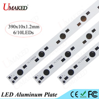 390x10MM Lamp Plate 6 10leds LED Aluminum Plate 1W 3W 5W High Power Beads Install LED