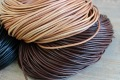 1mm 1.5mm 2mm 2.5mm 3mm 10yds Black Brown Natural Round Genuine Leather Cords