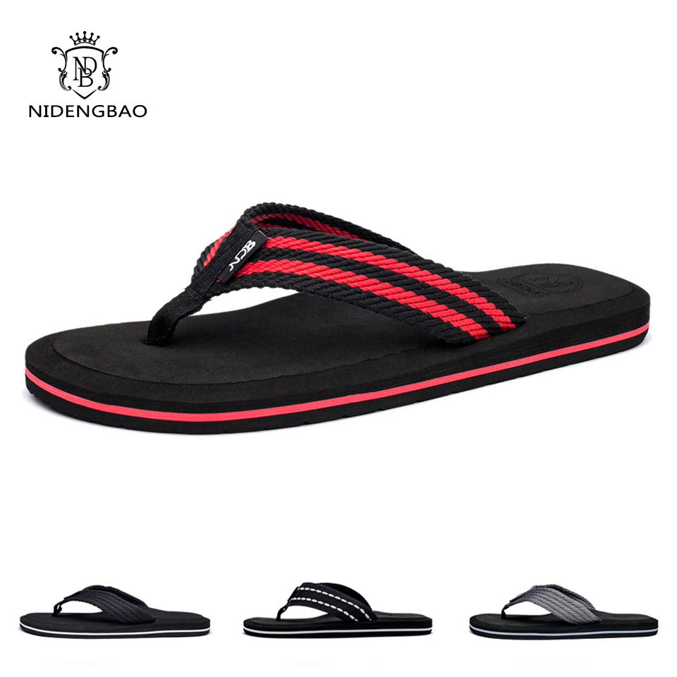 NEEDBO Flip Flops Men Summer Cool Platform Sandals Men Beach Shoes Comfortable Slippers Sandals Flat for Men Plus size 47 цены онлайн