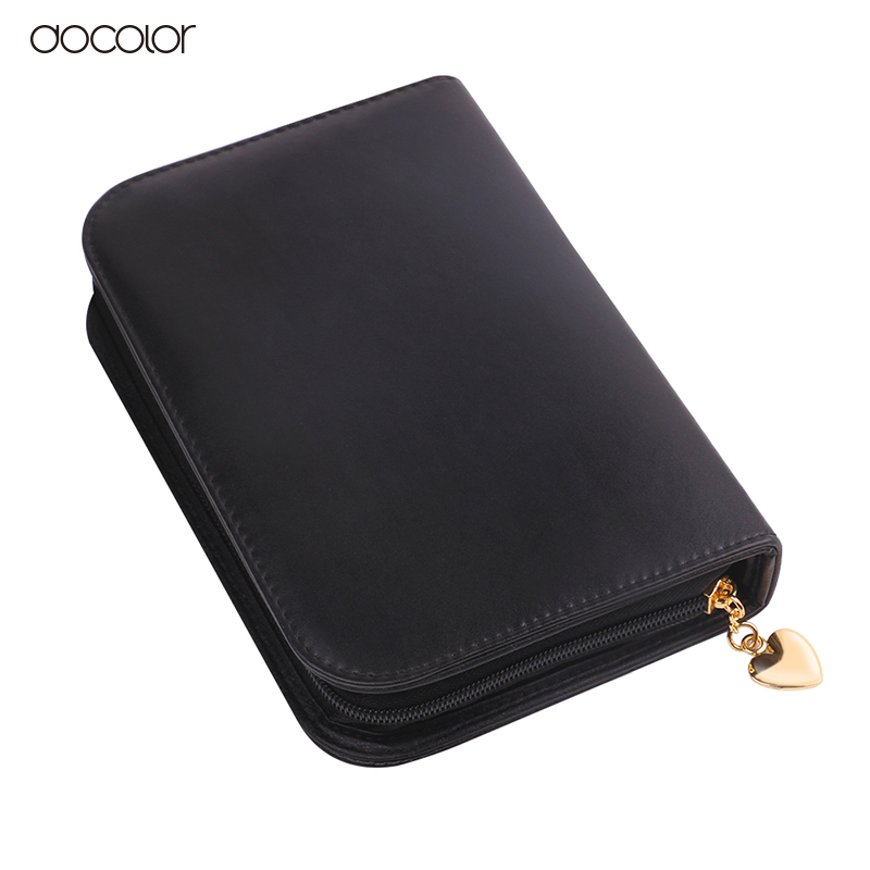 Docolor New Makeup Brushes Bag PU Leather Cosmetics Bag Big Capacity for Make Up Brush Kit Free Shipping