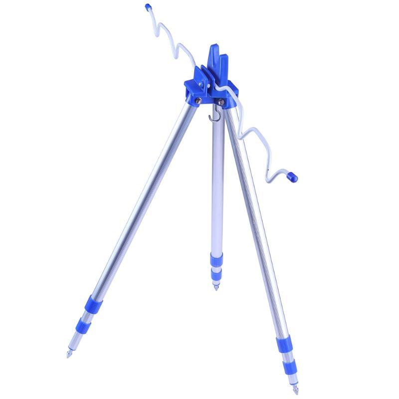 1.2M Aluminum Alloy Telescopic Fishing <font><b>Rod</b></font> Tripod Stand Rest Holder Adjustable <font><b>3</b></font> Sections Pesca Fishing Pole Holder Tackle Tools