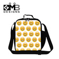 Dispalang QQ emoji pattern thermal lunch bags for children expression cartoon insulated cooler bags smilely emoji face food bag