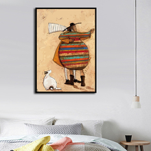 Nordic Softheart Dancing Couple Art Print, Wall Painting Poster for Living Room Decoration, Canvas Graffiti Home Decor