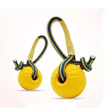 Dog Toys Teeth Indestructible Bite Rubber Puppy Funny Training Ball Chew Play Fetch Solid With Carrier Rope Pet