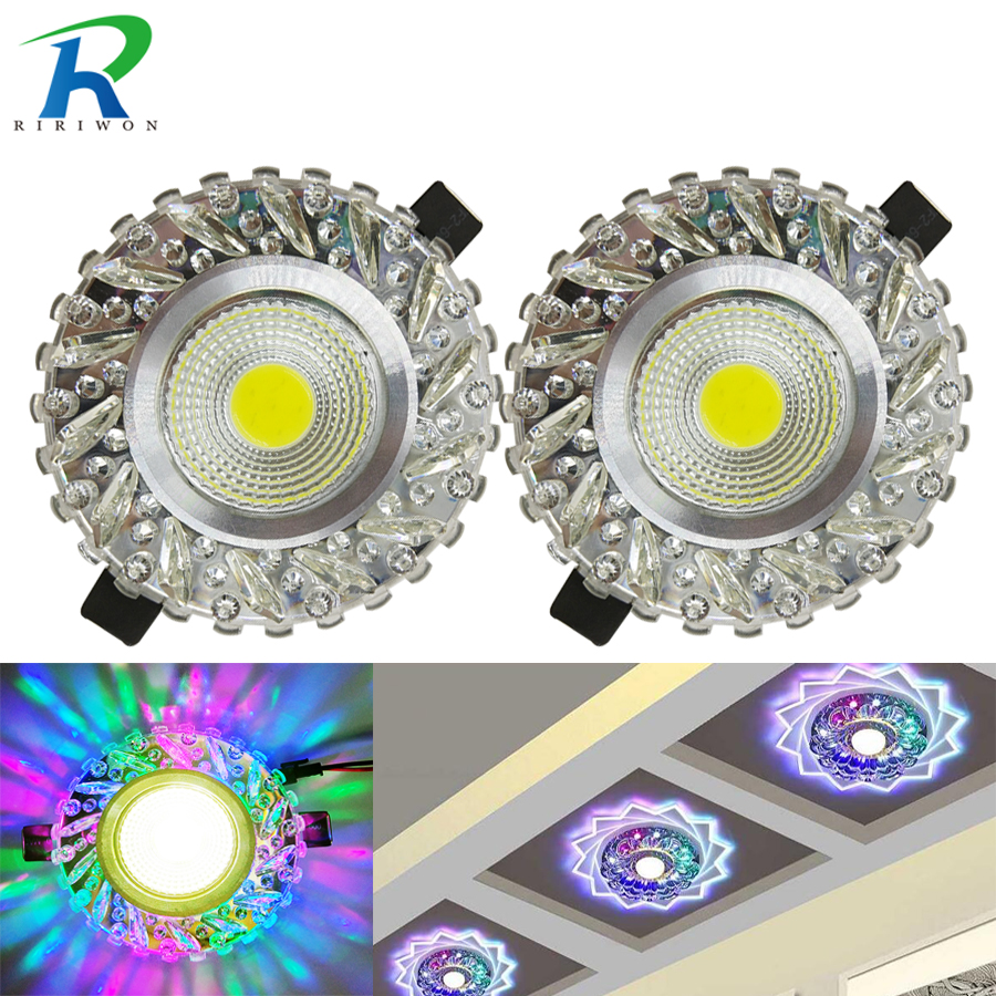 2pcs led Ceiling Lamp 3w Downlight Wall Mount Light Modern Corridor Mirror light Aisle Veranda Lighting Down Crystal Surface ...