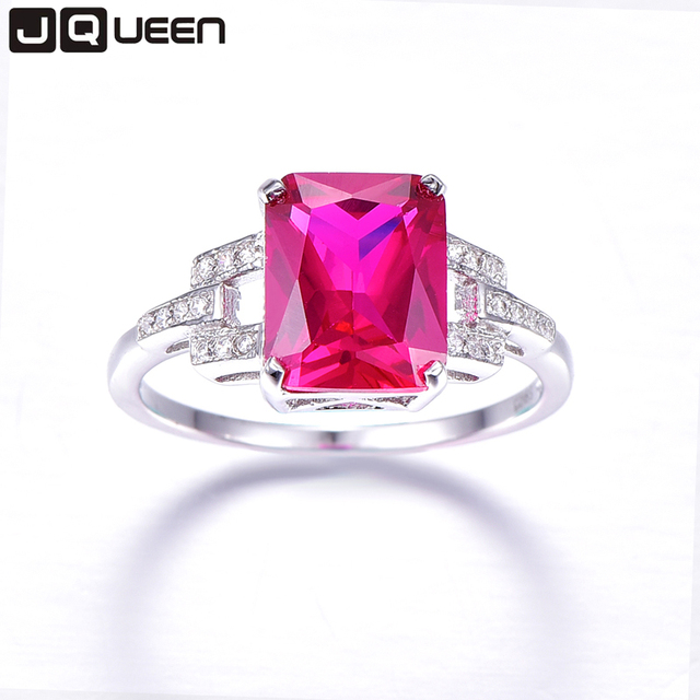 JQUEEN Famous Brand Sterling Silver Jewelry Women Accesssories AAA Ruby Wedding Earrings Necklace Ring Sets with Free Gift Box