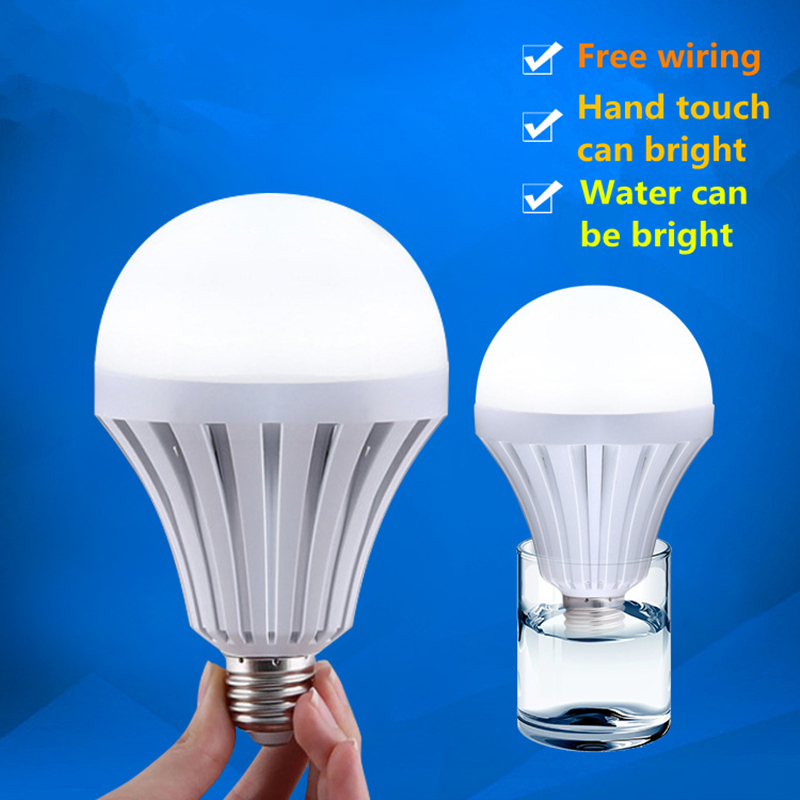 High Power E27 5W 7W 9W 12W 15W LED Light Bulb 85-265V Emergency Lamp Bombillas Lampada Bulb Leds for Home Camping Cold White