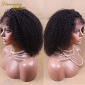 Peruvian Virgin Afro Kinky Wig Short Curly Hair 130 Density 100% Human Hair Glueless Full Lace Kinky Curly Wigs For Black Women