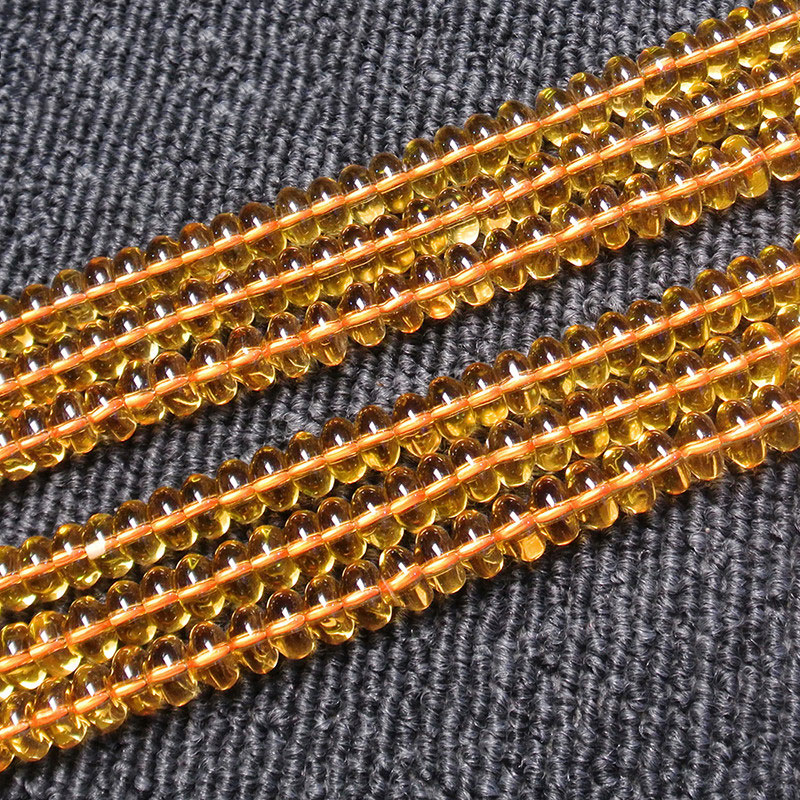 4x8mm Natural Yellow Citrines Beads Rondelle Spacer DIY Loose Quartz Beads For Jewelry Making Beads Accessories 15 Women Gift4x8mm Natural Yellow Citrines Beads Rondelle Spacer DIY Loose Quartz Beads For Jewelry Making Beads Accessories 15 Women Gift