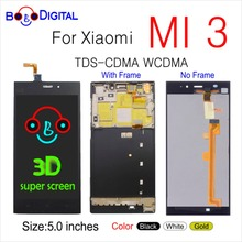 For XIAOMI Mi3 MI 3 Display Touch Screen With Frame TDS CDMA WCDMA 5.0 Original LCD  for Xiaomi Mi 3 LCD Display Replacement
